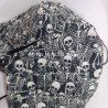 Mascarilla (HIDROFUGA-ANTIBACTERIA) Adulto fiesta esqueletos