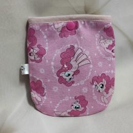 Bolsa porta mascarillas pequeño pony rosa