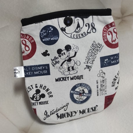Bolsa porta mascarillas Mickey vintage