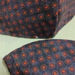 Mascarilla (HIDROFUGA-ANTIBACTERIA) junior granate  flor naranja