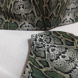 Mascarilla (HIDROFUGA-ANTIBACTERIA) Junior serpiente verde