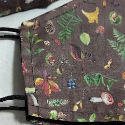 Mascarilla (HIDROFUGA-ANTIBACTERIA) Adulto setas otoño
