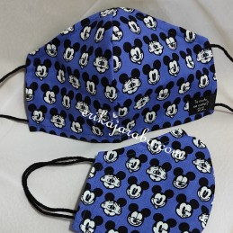 Mascarilla (HIDROFUGA-ANTIBACTERIA) Adulto Caras Mickey azul