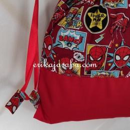Bolsito mochila spiderman comic