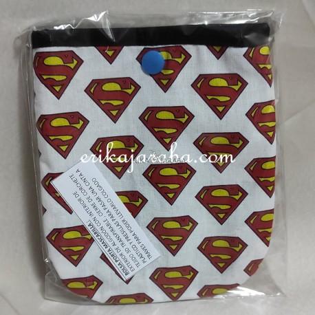 Bolsa porta mascarillas Superman logo