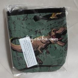 Bolsa porta mascarillas dinosaurios fondo verde