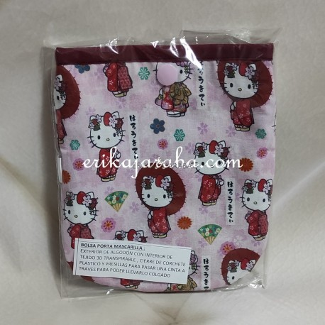 Bolsa porta mascarillas kitty Japon