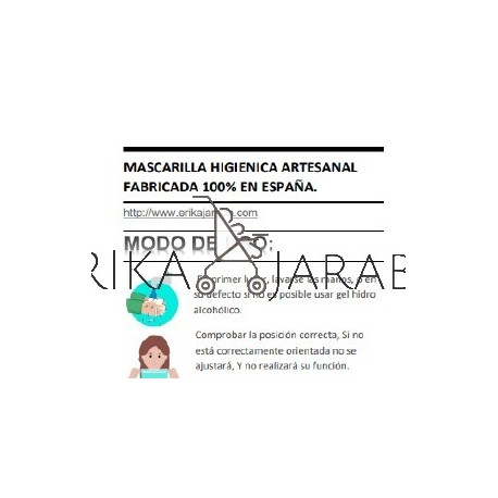 uso mascarilla higienica artesanal