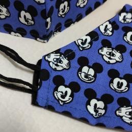 Mascarilla (HIDROFUGA-ANTIBACTERIA) Junior Caras Mickey azul