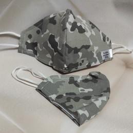 Mascarilla (HIDROFUGA-ANTIBACTERIA) Junior Militar gris claro