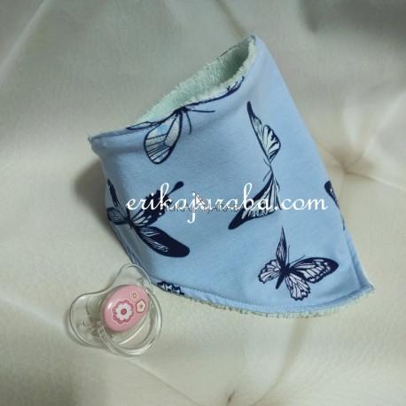 Bandana mariposa azul bambú rosa