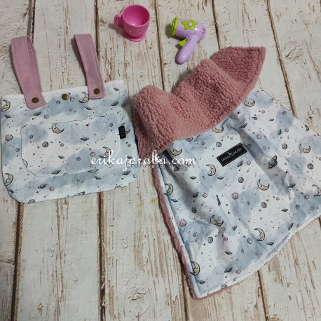 bolso y manta para muñecas